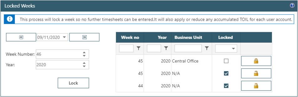 WAP Timesheets help and user guide - Timesheet HUG Section 22 Image 4