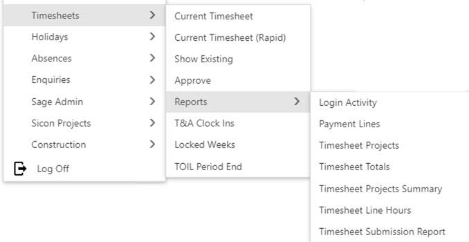 WAP Timesheets help and user guide - Timesheet HUG Section 24 Image 1