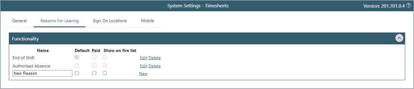 WAP Timesheets help and user guide - Timesheet HUG Section 26.6 Image 1