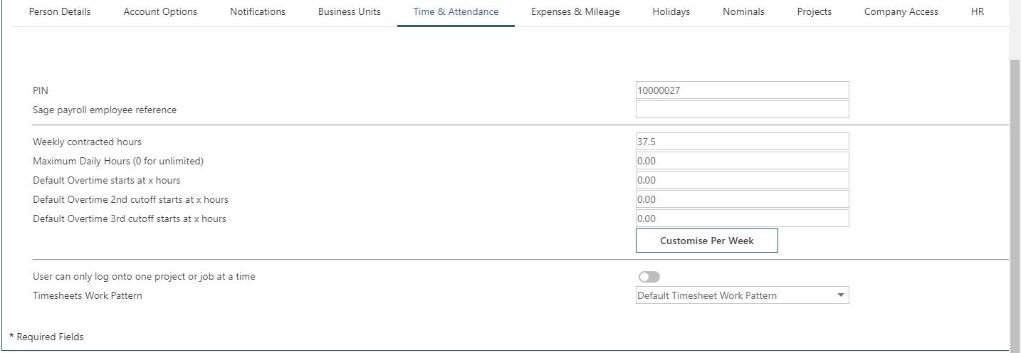 WAP Timesheets help and user guide - Timesheet HUG Section 28.4 Image 1