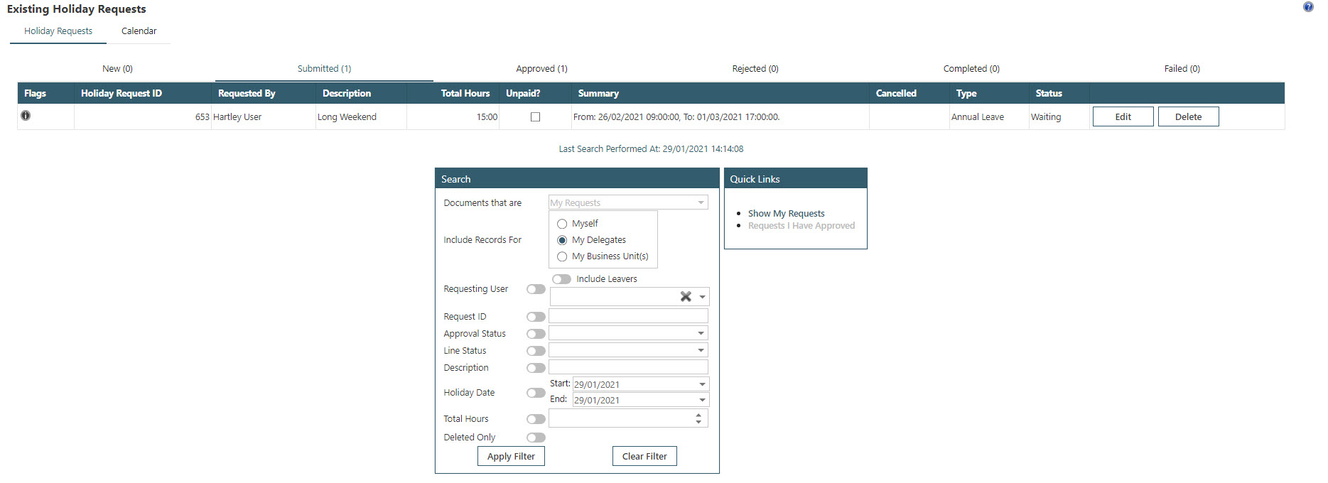 Sicon WAP Holidays Help and User Guide - WAP Holidays HUG Section 14 - Image 1