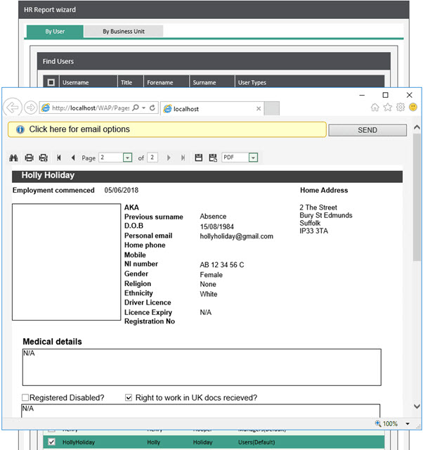 Sicon WAP HR module Help and User Guide - HR HUG Section 13.2 Image 1