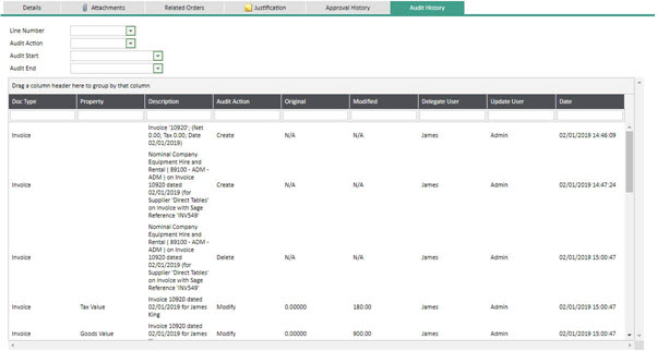 WAP Invoice Module Help and User Guide - Invoice HUG Section 11.6 Image 1