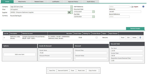 WAP Invoice Module Help and User Guide - Invoice HUG Section 14 Image 4