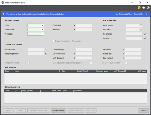 WAP Invoice Module Help and User Guide - Invoice HUG Section 15.1 Image 1