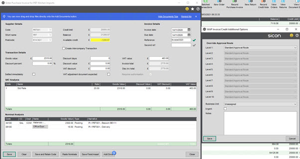 WAP Invoice Module Help and User Guide - Invoice HUG Section 15.1 Image 2