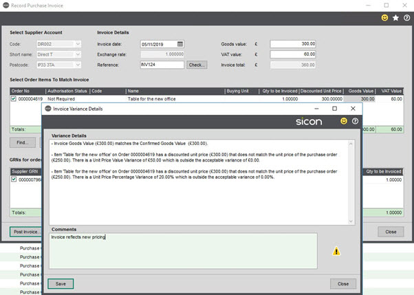 WAP Invoice Module Help and User Guide - Invoice HUG Section 15.2 Image 2
