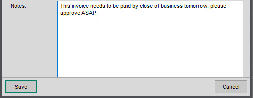 WAP Invoice Module Help and User Guide - Invoice HUG Section 15.3 Image 5