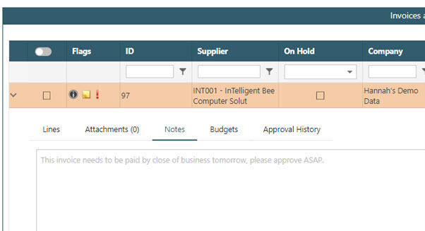WAP Invoice Module Help and User Guide - Invoice HUG Section 15.3 Image 7