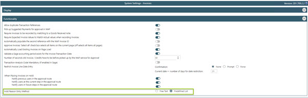 WAP Invoice Module Help and User Guide - Invoice HUG Section 17.3 Image 1