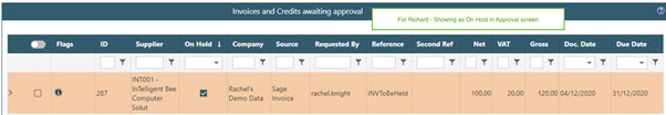 WAP Invoice Module Help and User Guide - Invoice HUG Section 17.3 Image 13