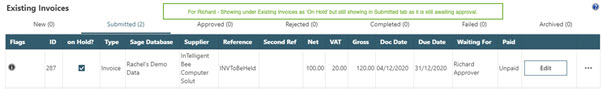 WAP Invoice Module Help and User Guide - Invoice HUG Section 17.3 Image 14