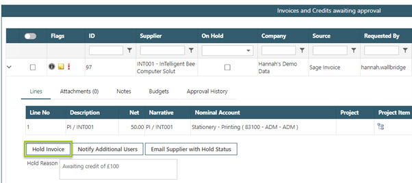 WAP Invoice Module Help and User Guide - Invoice HUG Section 17.3 Image 3