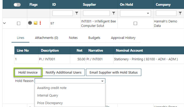 WAP Invoice Module Help and User Guide - Invoice HUG Section 17.3 Image 4