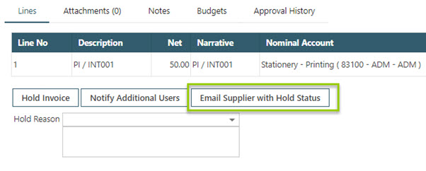 WAP Invoice Module Help and User Guide - Invoice HUG Section 17.3 Image 9