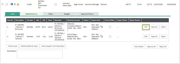WAP Invoice Module Help and User Guide - Invoice HUG Section 20.2 Image 1