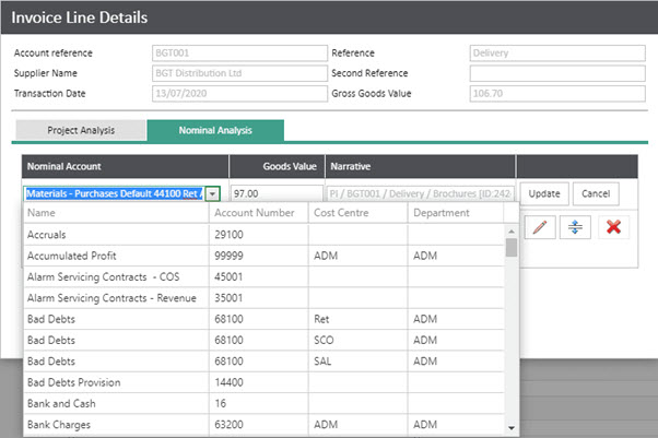 WAP Invoice Module Help and User Guide - Invoice HUG Section 20.2 Image 5