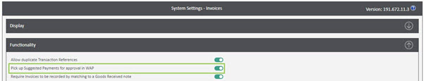 WAP Invoice Module Help and User Guide - Invoice HUG Section 23.1 Image 2
