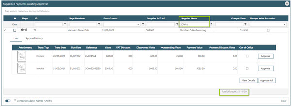 WAP Invoice Module Help and User Guide - Invoice HUG Section 23.4 Image 2
