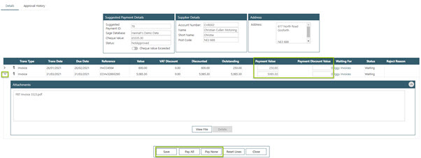WAP Invoice Module Help and User Guide - Invoice HUG Section 23.5 Image 2