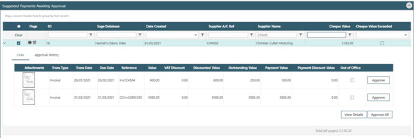WAP Invoice Module Help and User Guide - Invoice HUG Section 23.5 Image 4