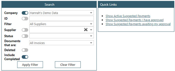 WAP Invoice Module Help and User Guide - Invoice HUG Section 23.7 Image 1