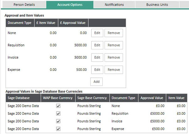 WAP Invoice Module Help and User Guide - Invoice HUG Section 7.1 Image 1