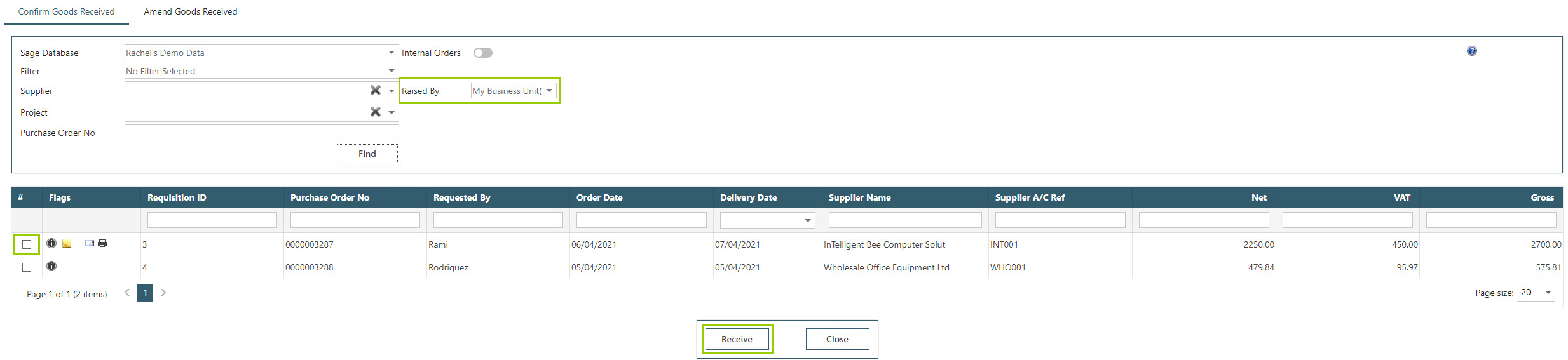 Sicon WAP Purchase Requisitions Help and User Guide - Requisition HUG Section 10 Image 1