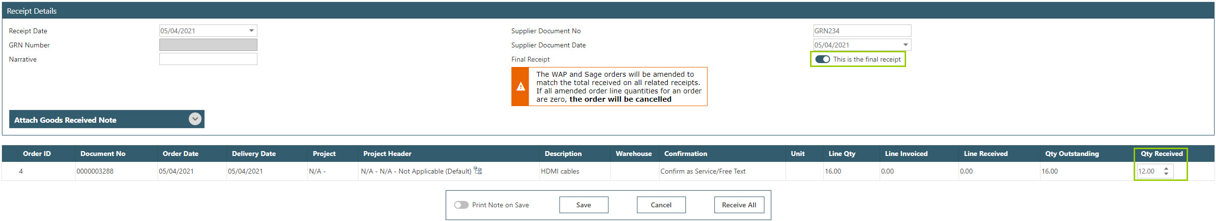 Sicon WAP Purchase Requisitions Help and User Guide - Requisition HUG Section 10.4 Image 1