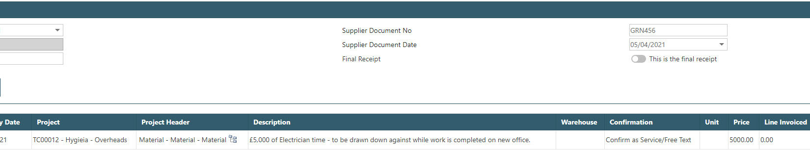 Sicon WAP Purchase Requisitions Help and User Guide - Requisition HUG Section 11.5 Image 1