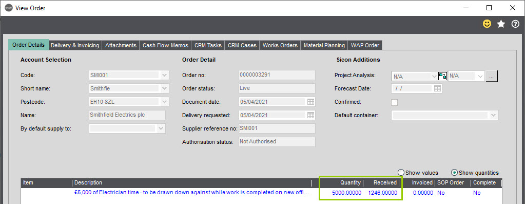 Sicon WAP Purchase Requisitions Help and User Guide - Requisition HUG Section 11.5 Image 2