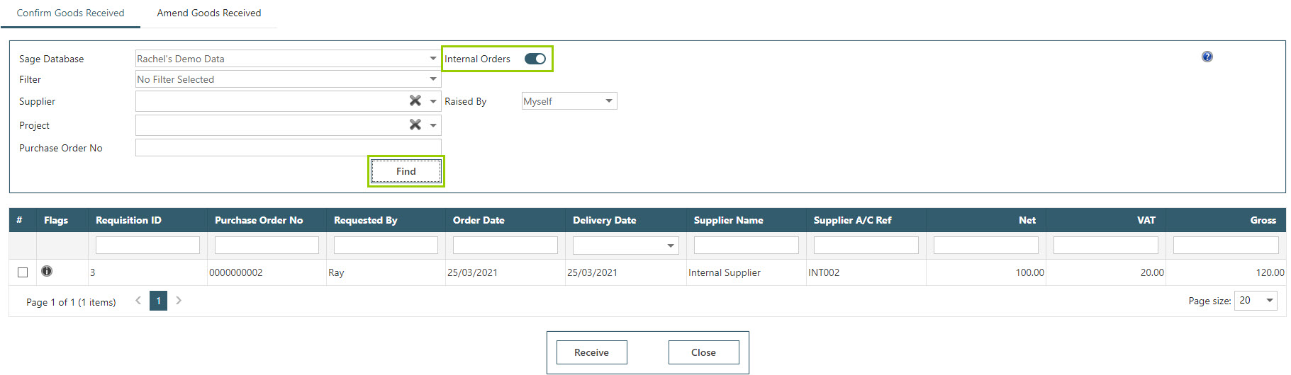 Sicon WAP Purchase Requisitions Help and User Guide - Requisition HUG Section 14.6 Image 1