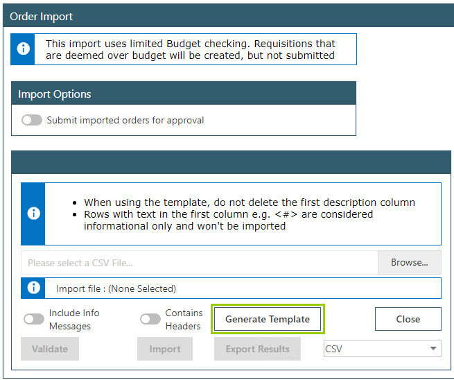 Sicon WAP Purchase Requisitions Help and User Guide - Requisition HUG Section 16.3 Image 1
