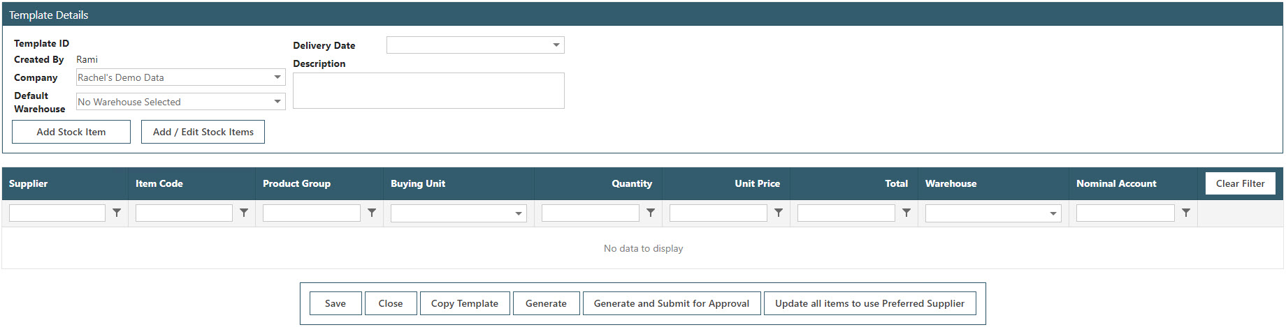 Sicon WAP Purchase Requisitions Help and User Guide - Requisition HUG Section 17.2 Image 2