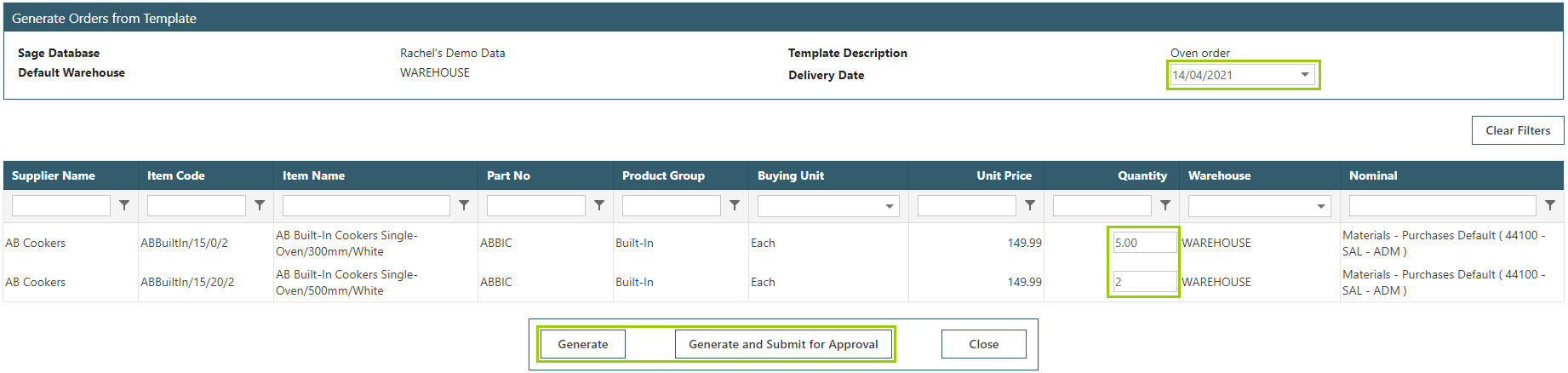 Sicon WAP Purchase Requisitions Help and User Guide - Requisition HUG Section 17.4 Image 2