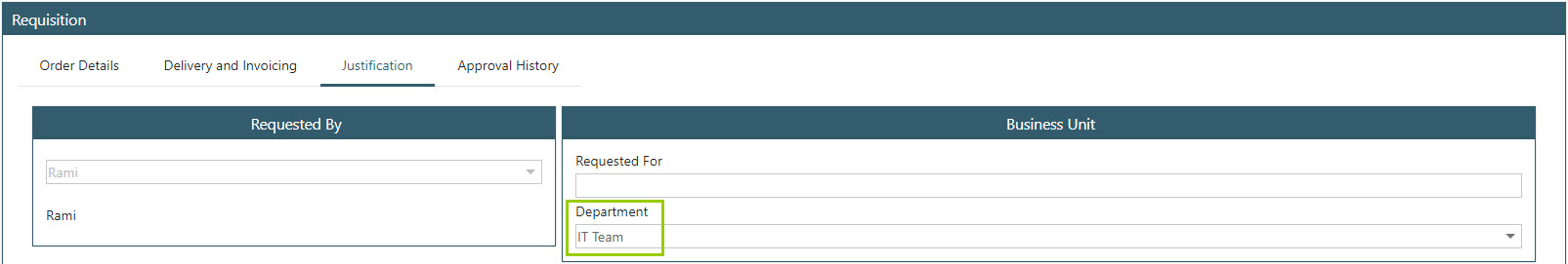 Sicon WAP Purchase Requisitions Help and User Guide - Requisition HUG Section 18.3 Image 1