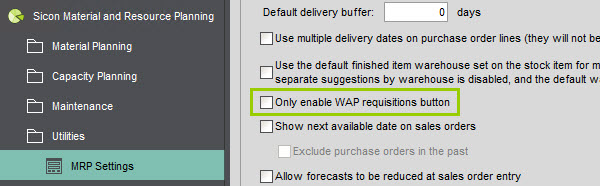 Sicon WAP Purchase Requisitions Help and User Guide - Requisition HUG Section 19.3 Image 1