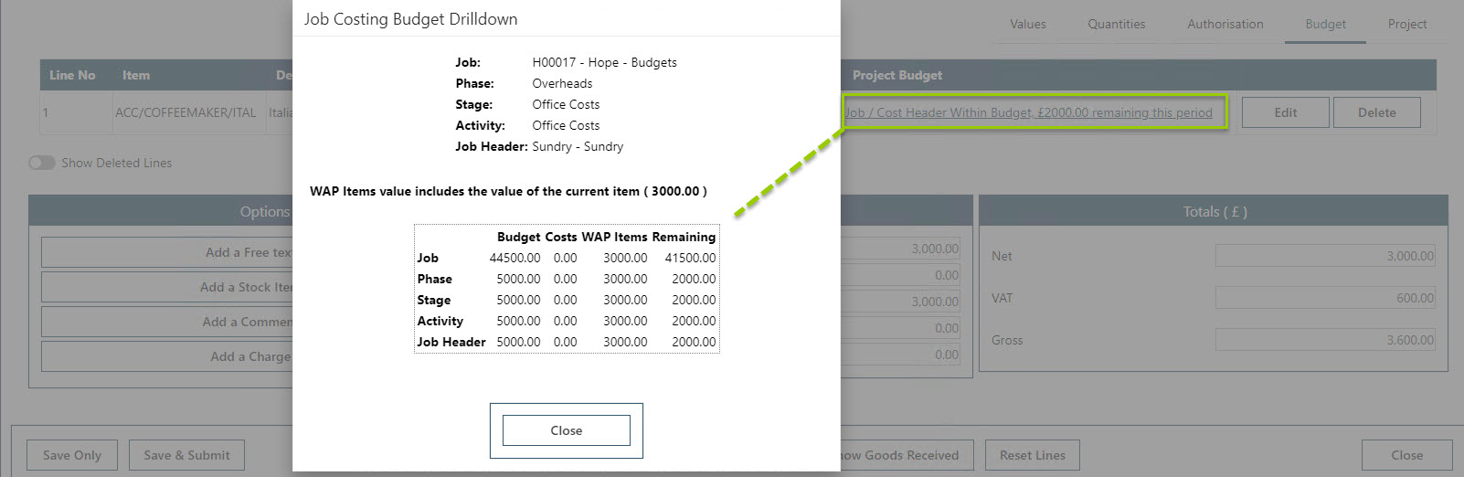 Sicon WAP Purchase Requisitions Help and User Guide - Requisition HUG Section 21.3 Image 5