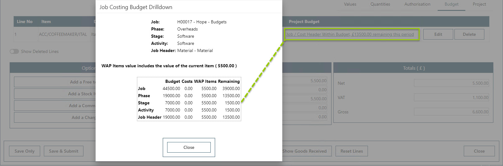 Sicon WAP Purchase Requisitions Help and User Guide - Requisition HUG Section 21.4 Image 6