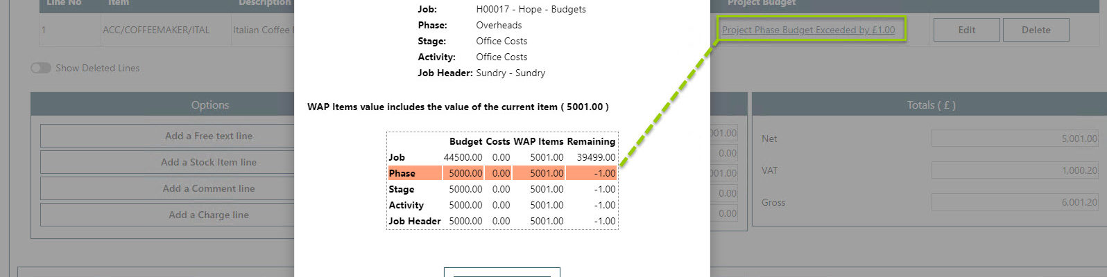 Sicon WAP Purchase Requisitions Help and User Guide - Requisition HUG Section 21.5 Image 5