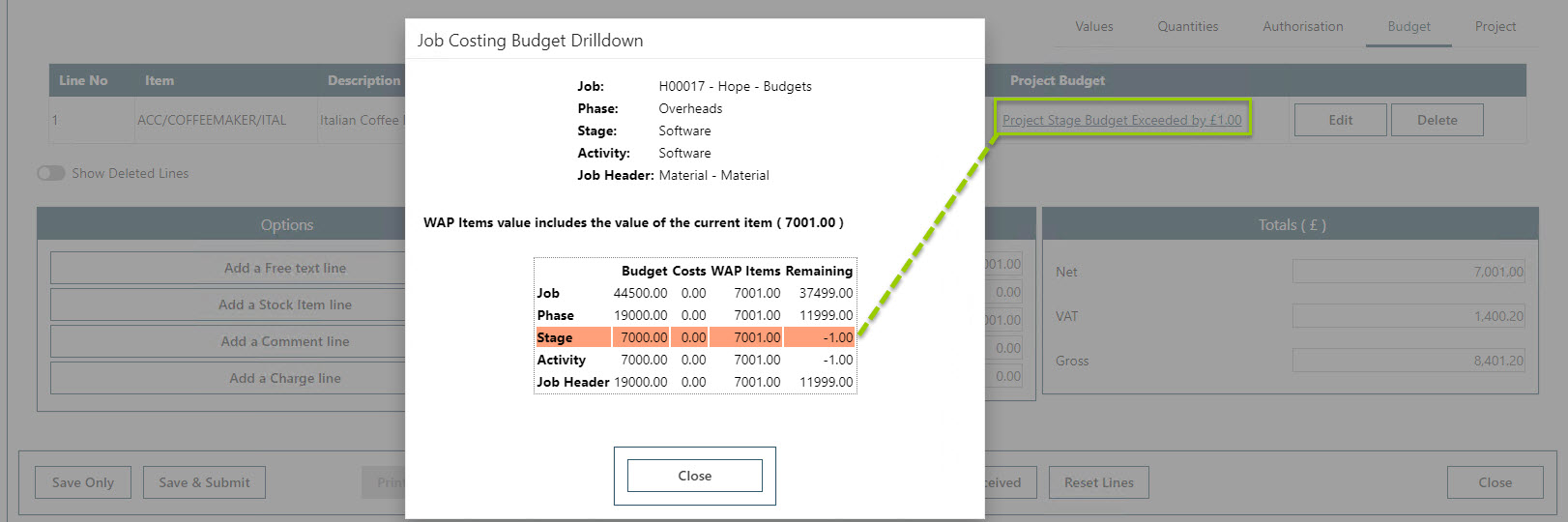 Sicon WAP Purchase Requisitions Help and User Guide - Requisition HUG Section 21.6 Image 5