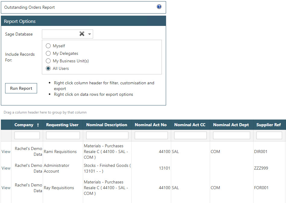Sicon WAP Purchase Requisitions Help and User Guide - Requisition HUG Section 22.3 Image 1