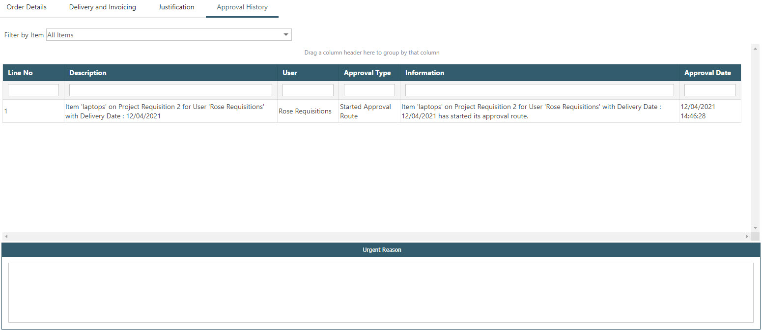 Sicon WAP Purchase Requisitions Help and User Guide - Requisition HUG Section 23.1o Image 1