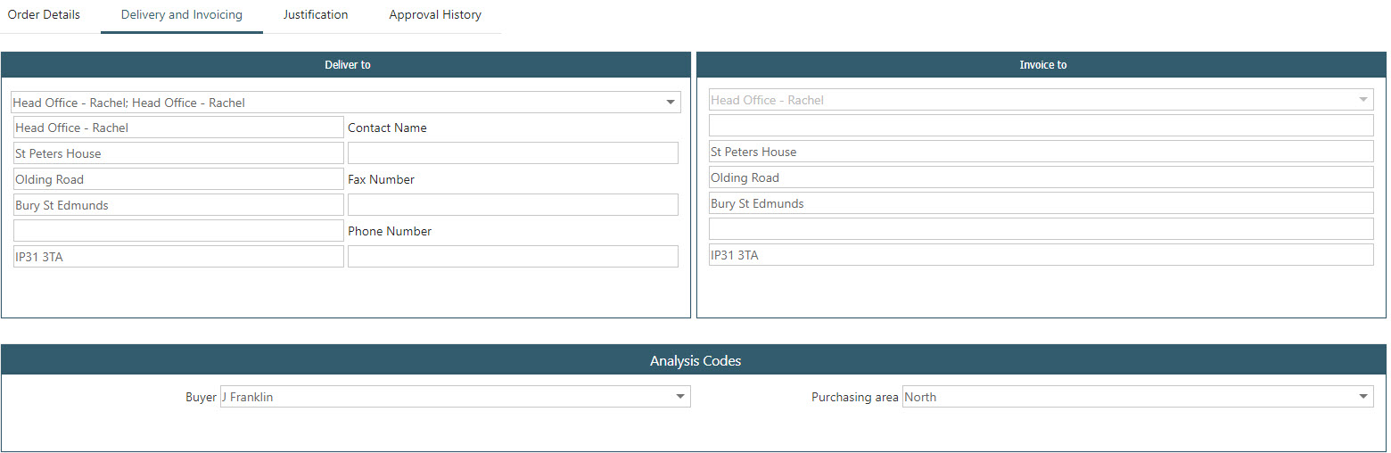 Sicon WAP Purchase Requisitions Help and User Guide - Requisition HUG Section 23.8 Image 1