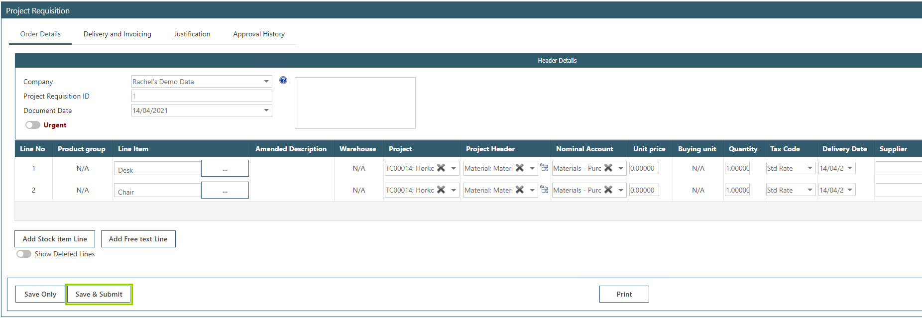 Sicon WAP Purchase Requisitions Help and User Guide - Requisition HUG Section 24.3 Image 8