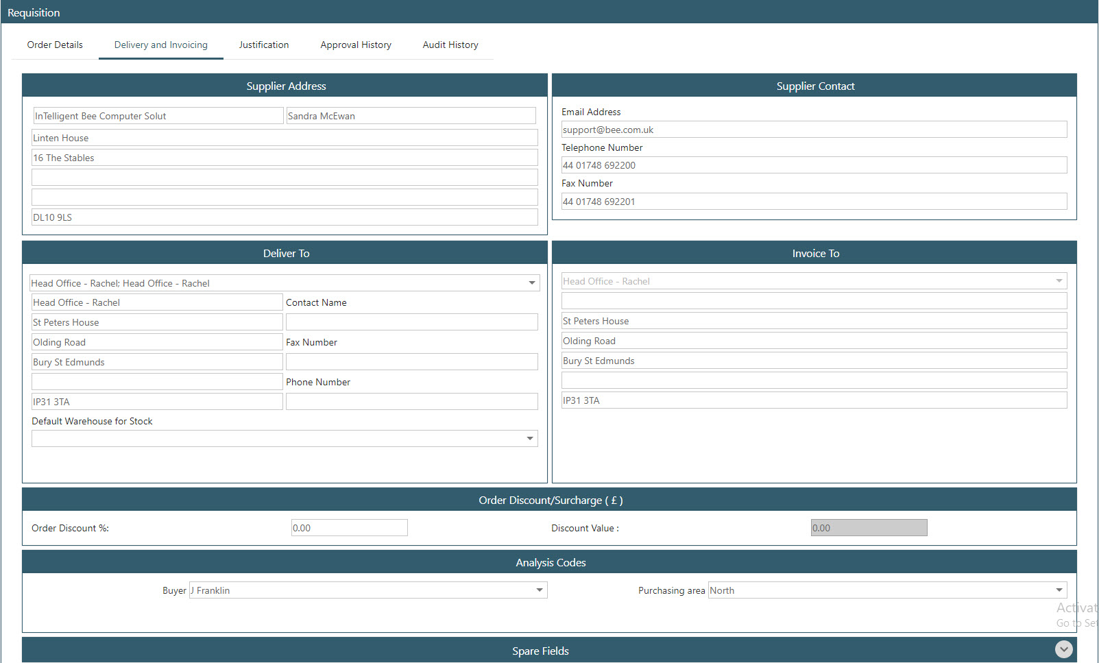 Sicon WAP Purchase Requisitions Help and User Guide - Requisition HUG Section 5.11 Image 1