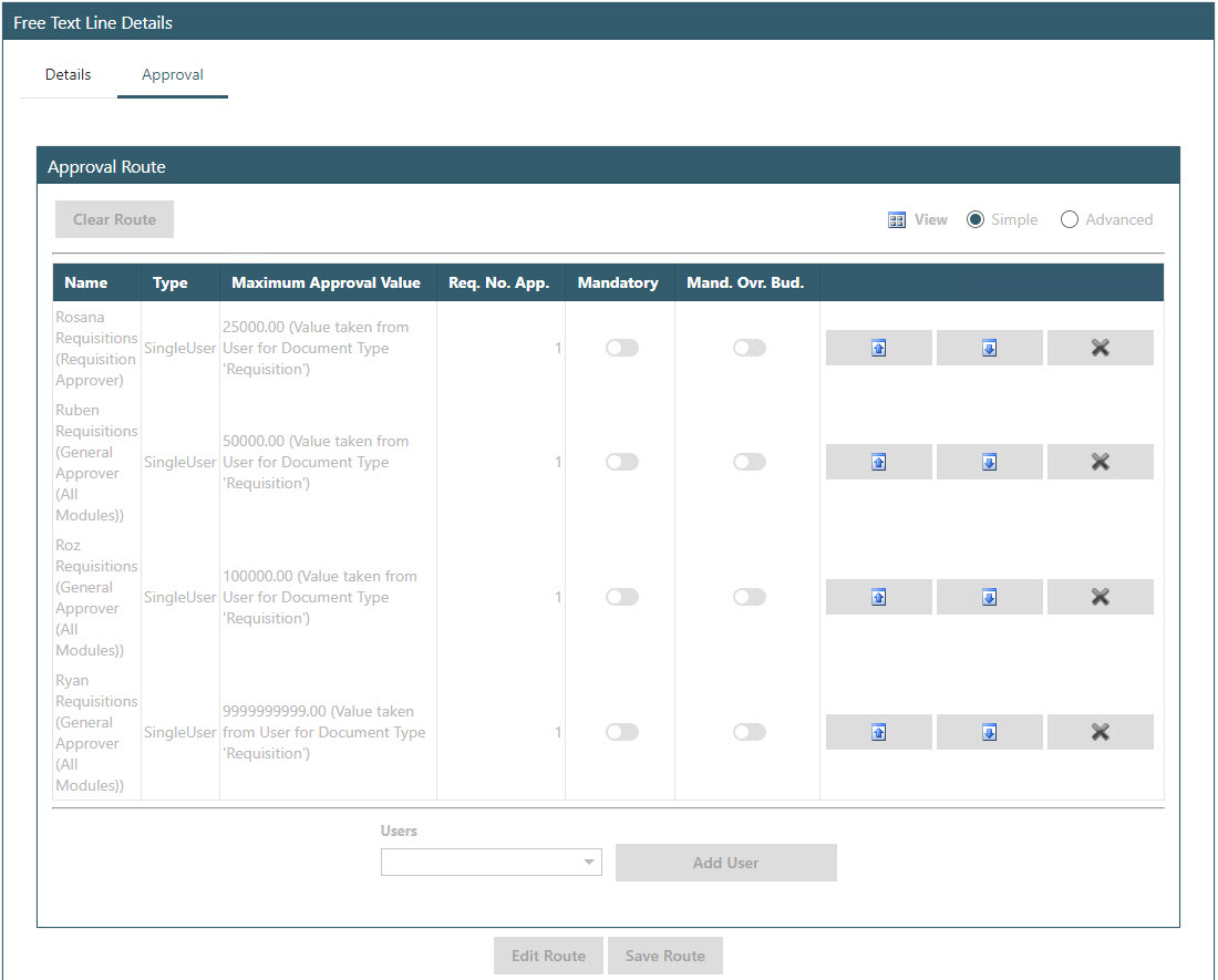 Sicon WAP Purchase Requisitions Help and User Guide - Requisition HUG Section 5.2 Image 5