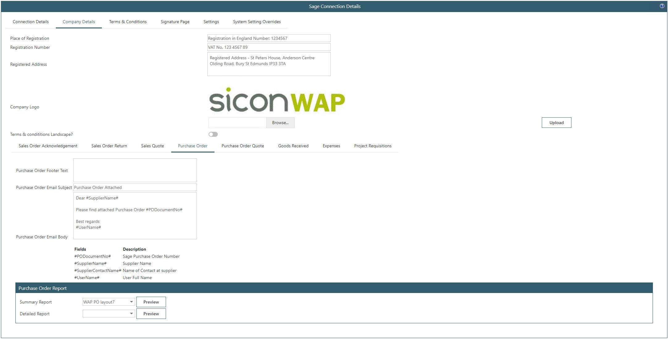 Sicon WAP Purchase Requisitions Help and User Guide - Requisition HUG Section 9.4 Image 2