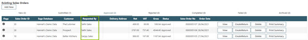 Sicon WAP Sales Order Help and User Guide - Sales Order HUG Section 18.1 Image 1