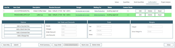 Sicon WAP Sales Order Help and User Guide - Sales Order HUG Section 19.3 Image 1